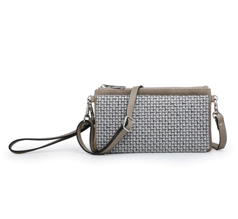 Eden Wallet/Crossbody - Grey