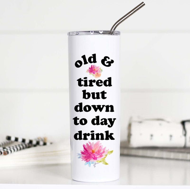 Old and Tired Tall Travel Mug