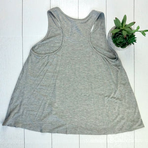 Racerback Tank Top - Light Grey FINAL SALE