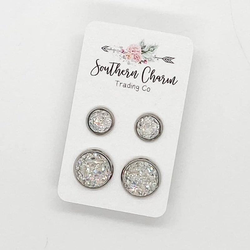 Mommy & Me Earring Studs - Crystal
