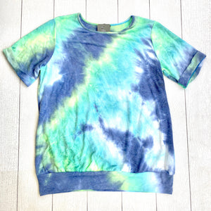 Blue and Green Tie Dye Top
