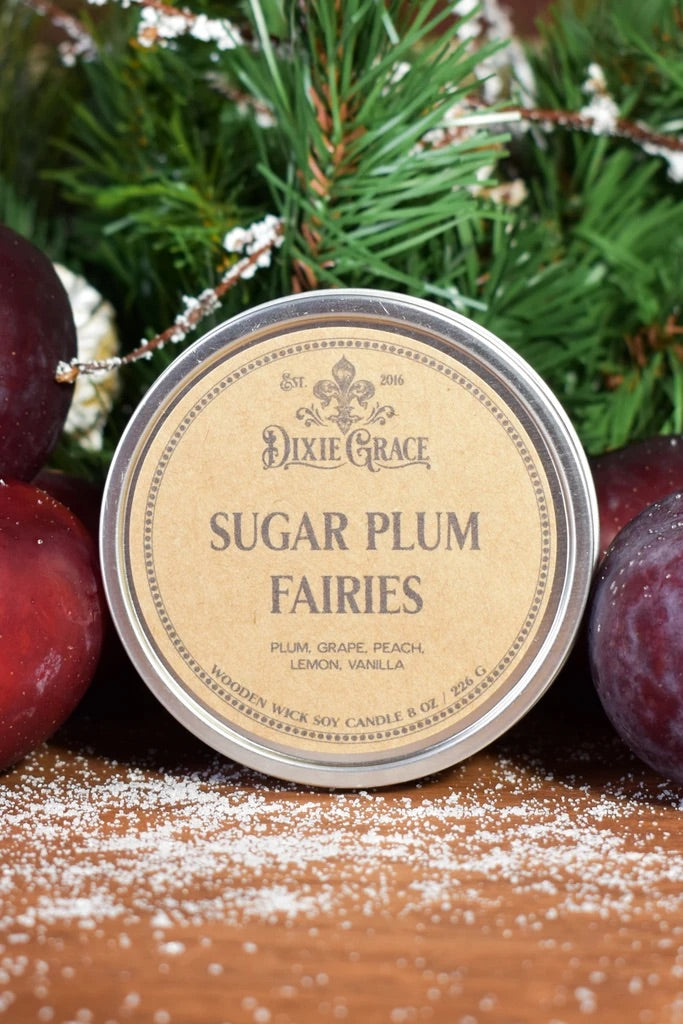 Wooden Wick Candle - Sugar Plum Fairies