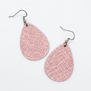 Pink Textured Mini Earrings