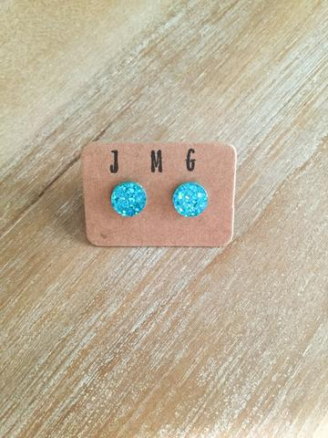 JMG 12mm Stud Earrings - Turquoise