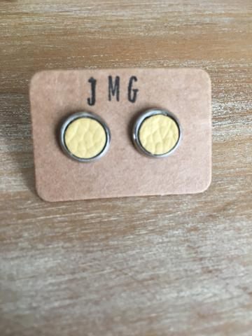 JMG 8mm Stud Earrings - Buttercup Yellow