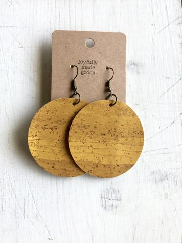 JMG Mustard Yellow Circle Earrings