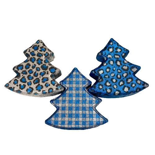 Blue/Silver Christmas Tree Bath Bombs