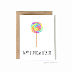 Birthday Sucker Card