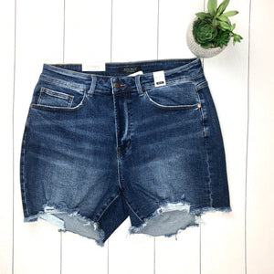 JB Mid Rise Frayed Cutoff Destroyed Shorts