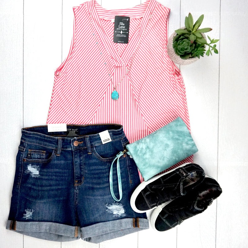 Pink Stripes Tank Top FINAL SALE