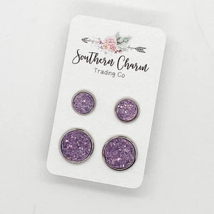 Mommy & Me Earring Studs - Orchid
