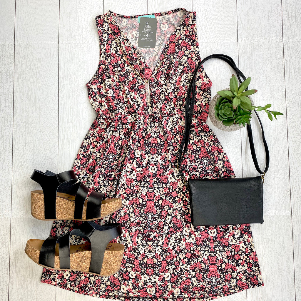 Melody Pink Floral Dress