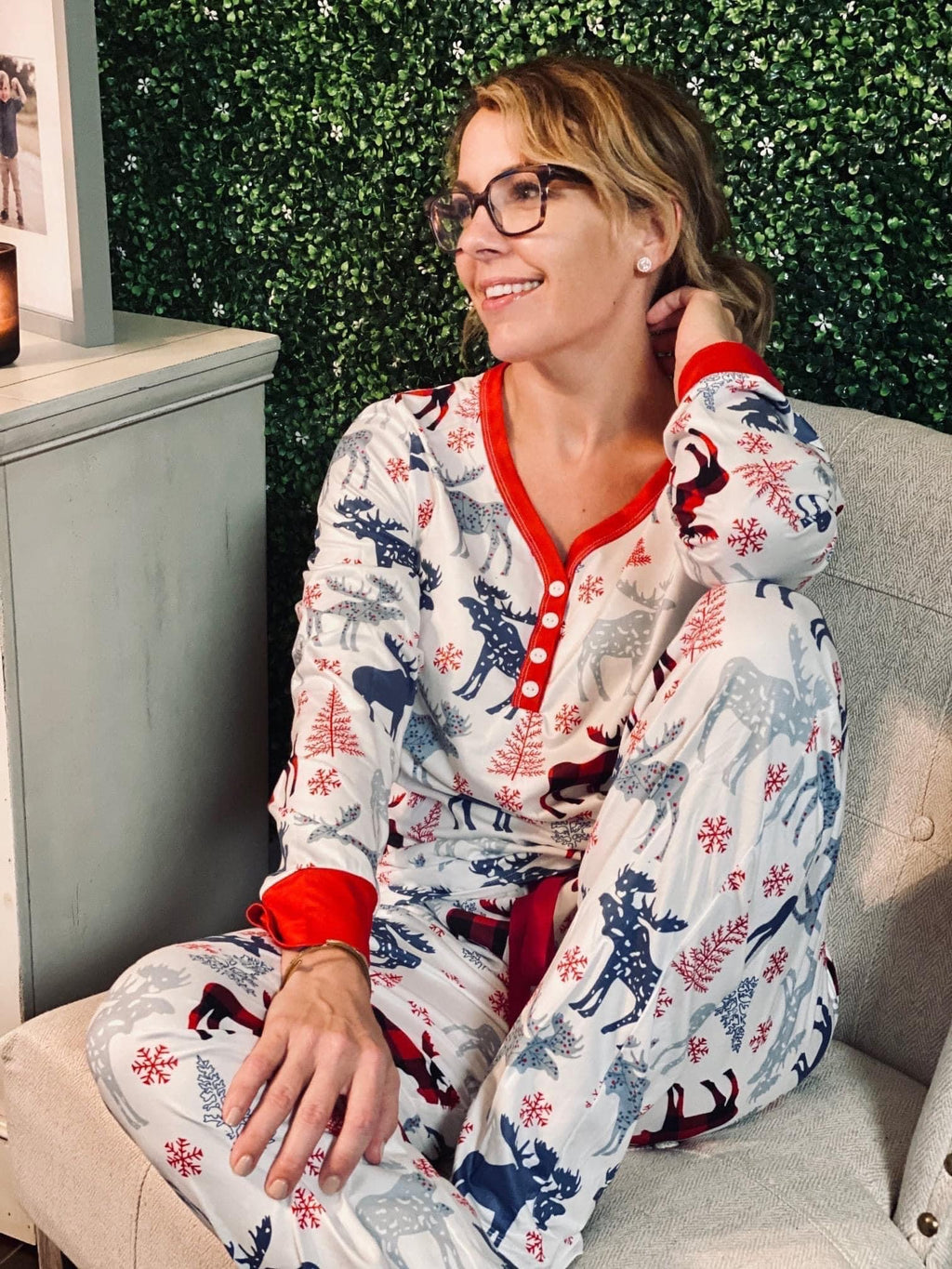Moose Pajama Set