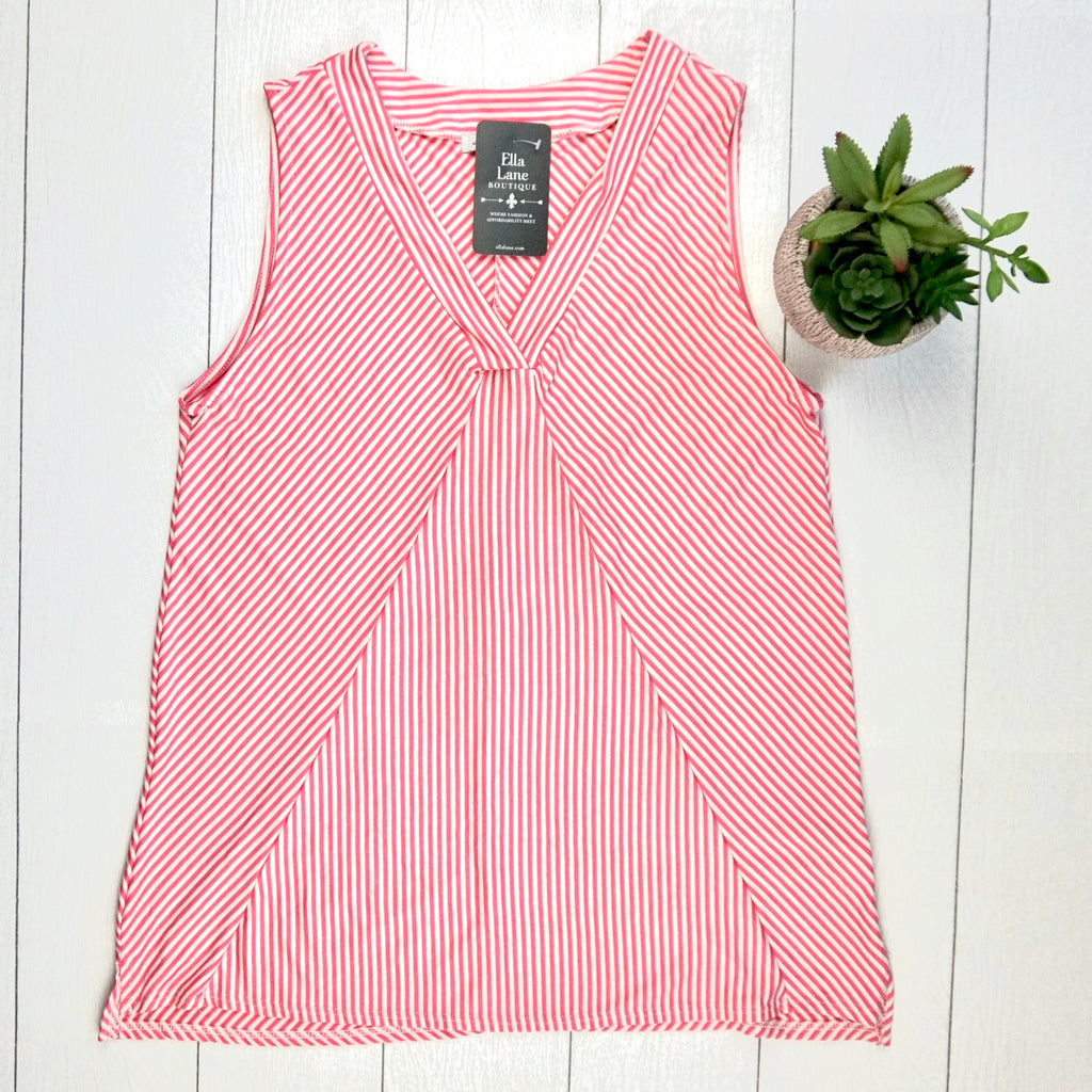 Pink Stripes Tank Top
