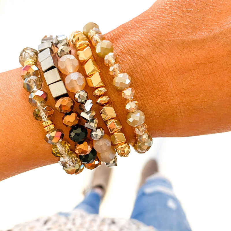 Mixed Metals Bracelet Stack