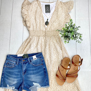 Ruffled Sleeve Duster