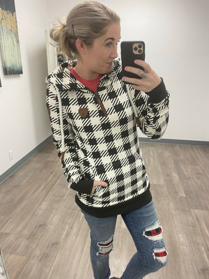 Wanakome Taylor Hoodie - Buffalo Plaid FINAL SALE