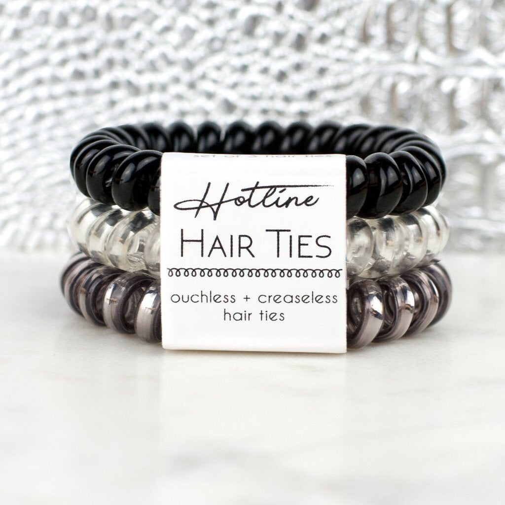 Hotline Hair Ties - Black Diamond