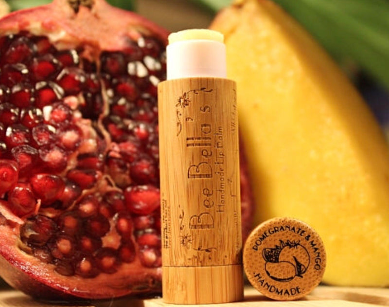 Beeswax Lip Balm - Pomegranate Mango
