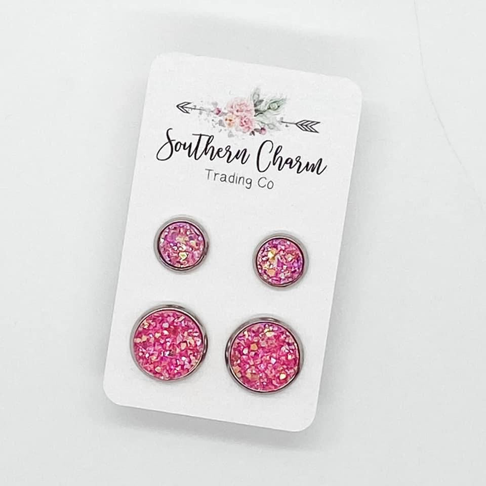 Mommy & Me Earring Studs - Pink