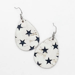 "1.5"" Black Star Itty Bitty Corkie Earrings"