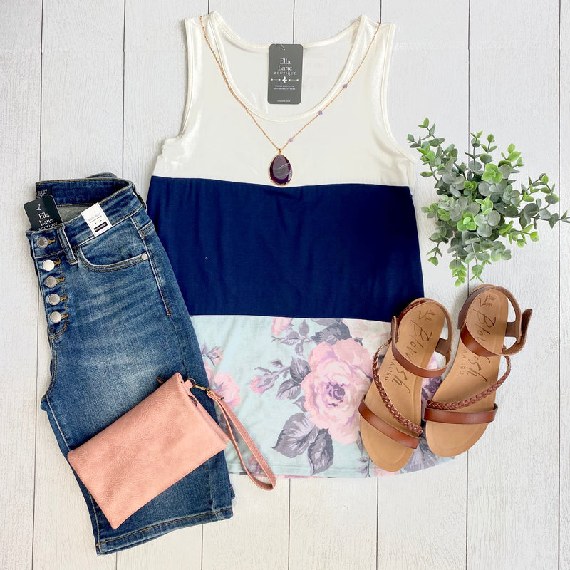 Kaitlin Color Block Tank