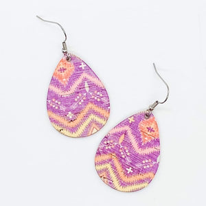 Purple Tribal Itty Bitty Earrings