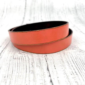 SCL Triple Wrap Leather Bracelet - Coral Blush