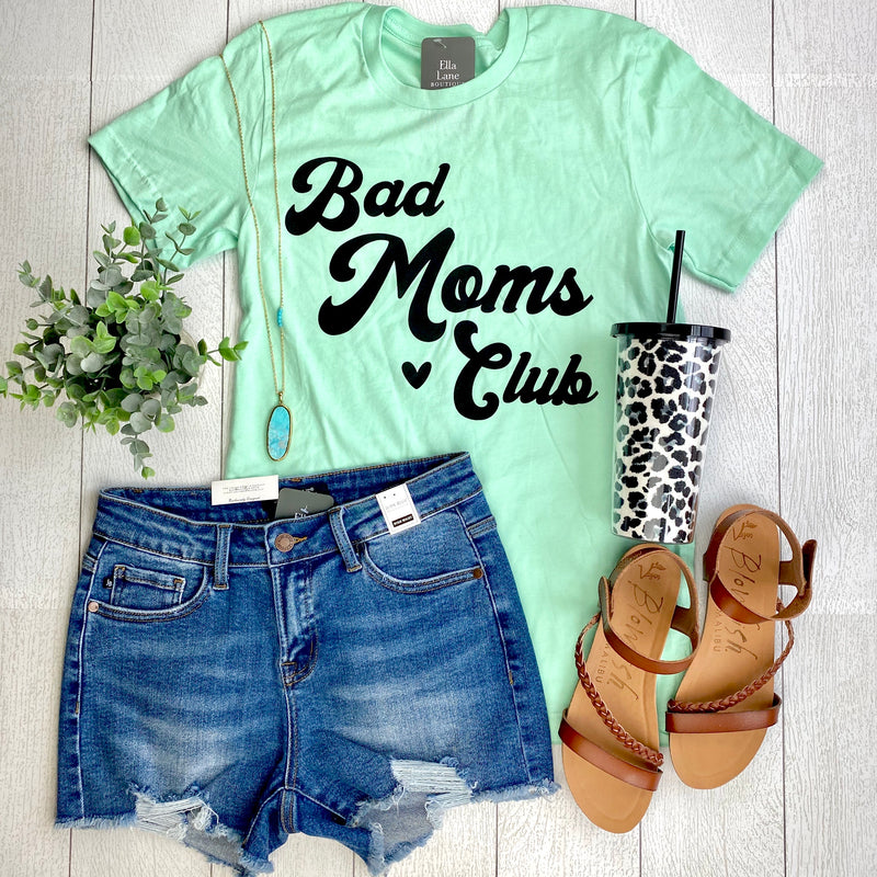 Bad Moms Club Tee- Mint