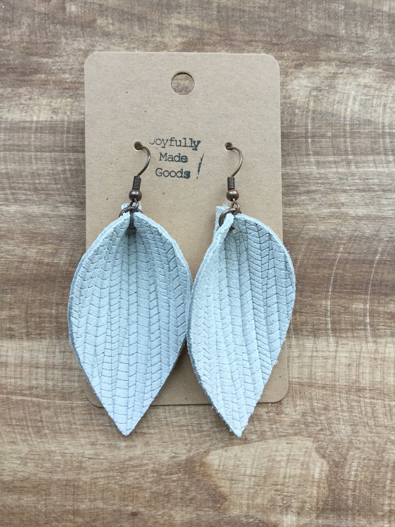 JMG White Petal Earrings