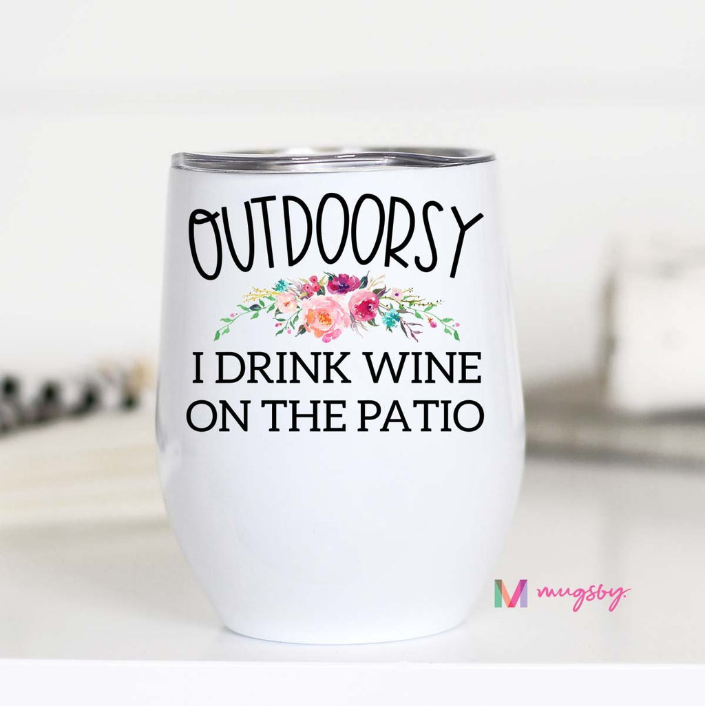 Outdoorsy Wine Tumbler