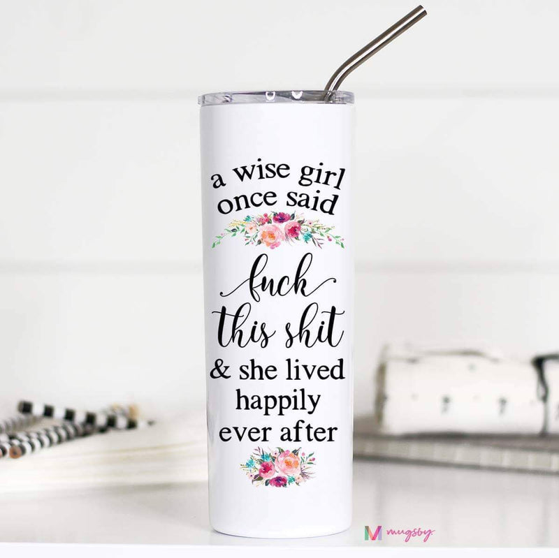 Wise Girl Tall Travel Mug
