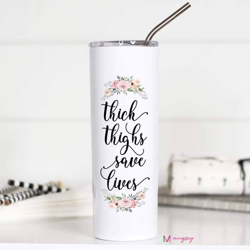 Thick Thighs Tall Travel Mug