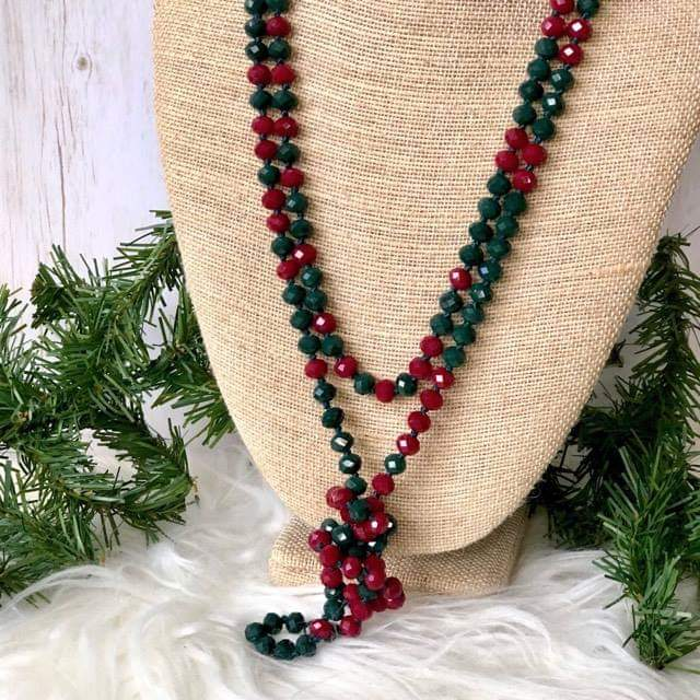 Glass Bead Necklace - Festive