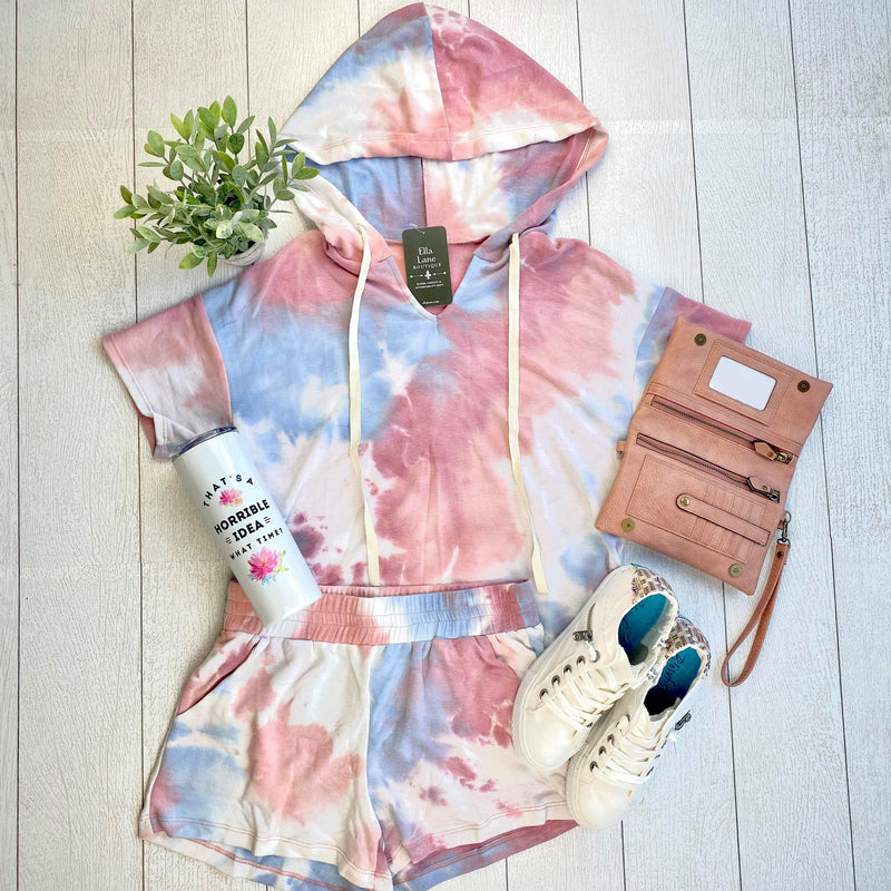 Lexi Tie Dye Top/Shorts Set