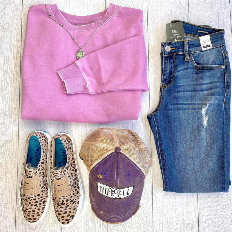 Classic Pullover Sweatshirt - Orchid