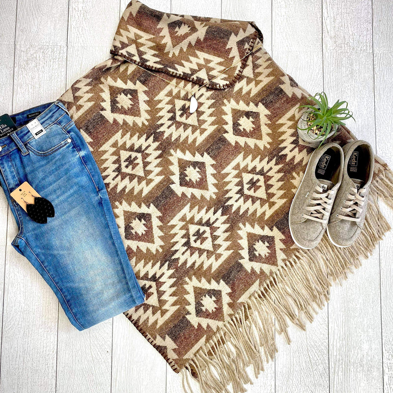 Western Brown Poncho
