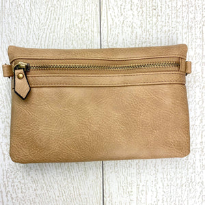 Hobo Wallet/Crossbody - Mocha