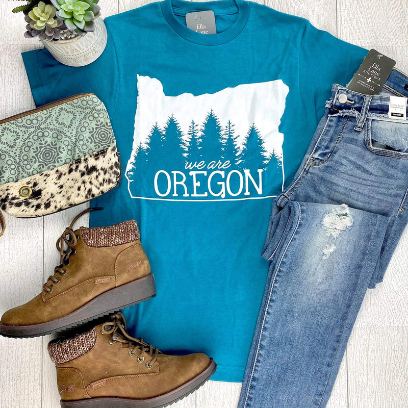 We Are Oregon Fundraiser Unisex Tee Blue - Teal IN STOCK