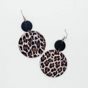 Chocolate Leopard Piggyback Earrings