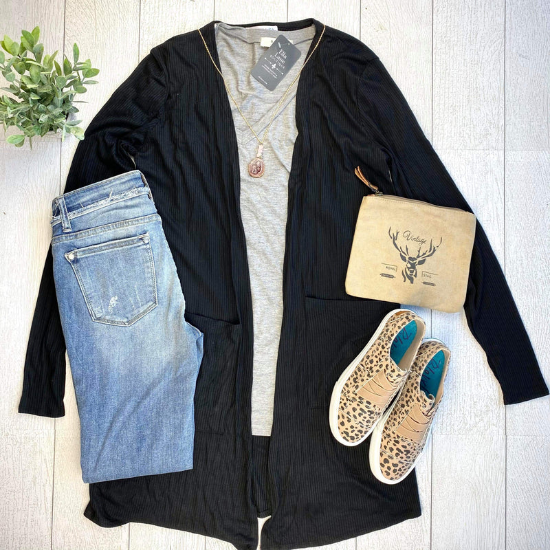 Noelle Long Cardigan - Black