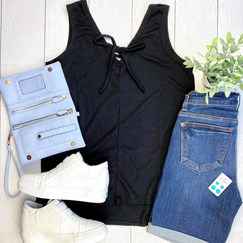 Grace Sleeveless Top - Black