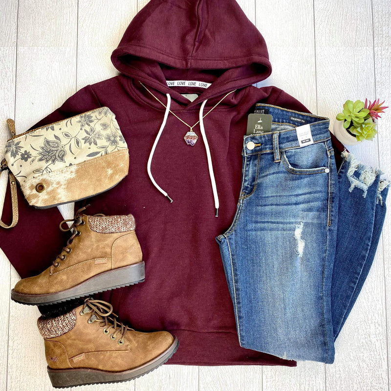 Classic Pullover Hoodie - Burgundy