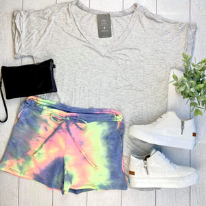 Neon Tie Dye Lounge Shorts FINAL SALE