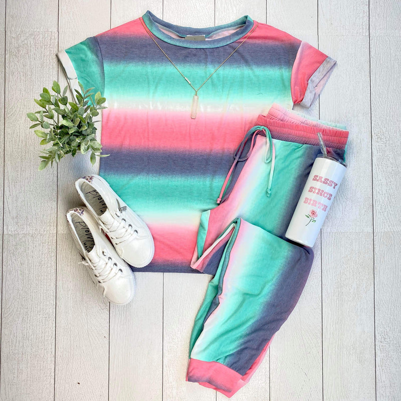 Abby Striped Lounge Set