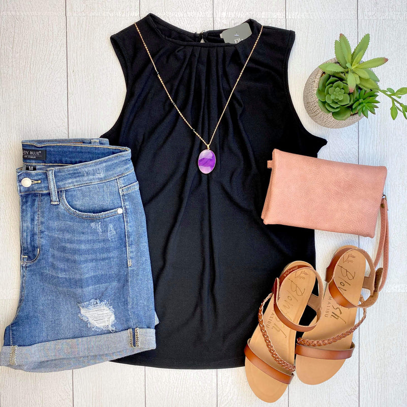Rylee Sleeveless Top - Black