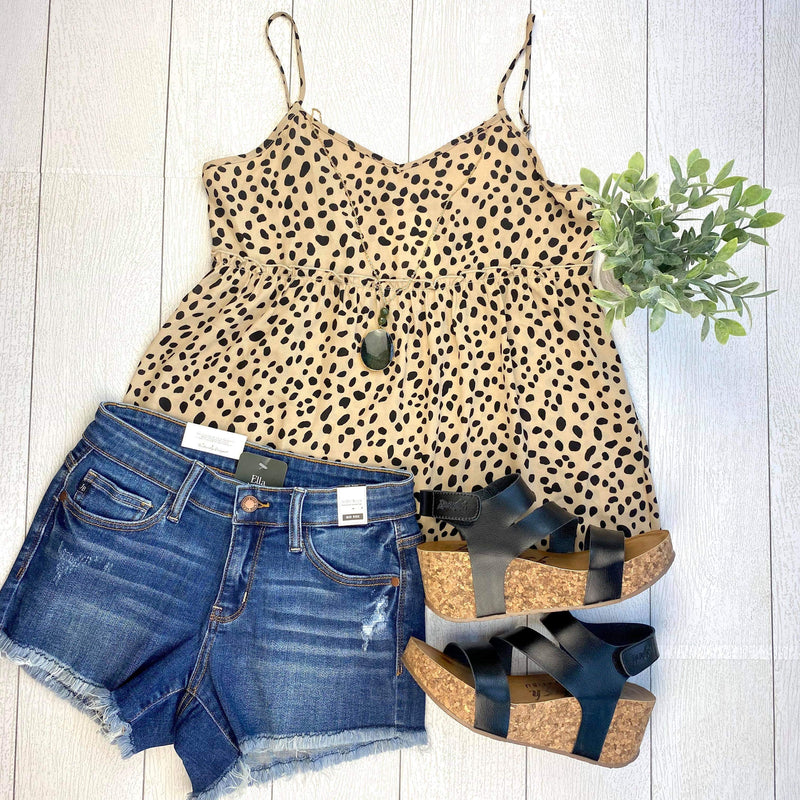Spotted Taupe Cami Top