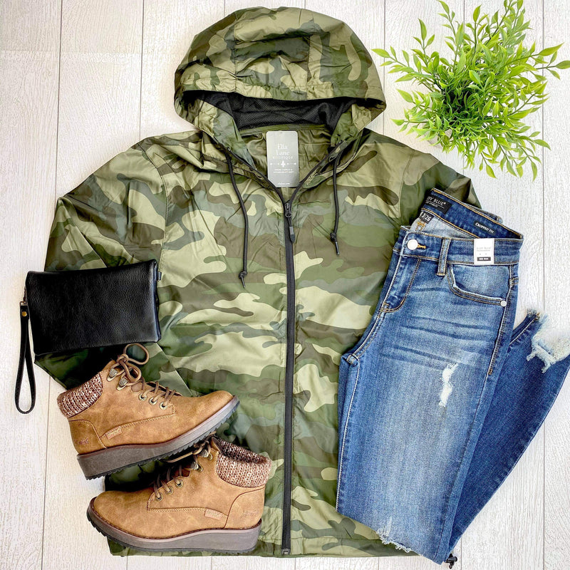 Camo Wind Breaker Jacket