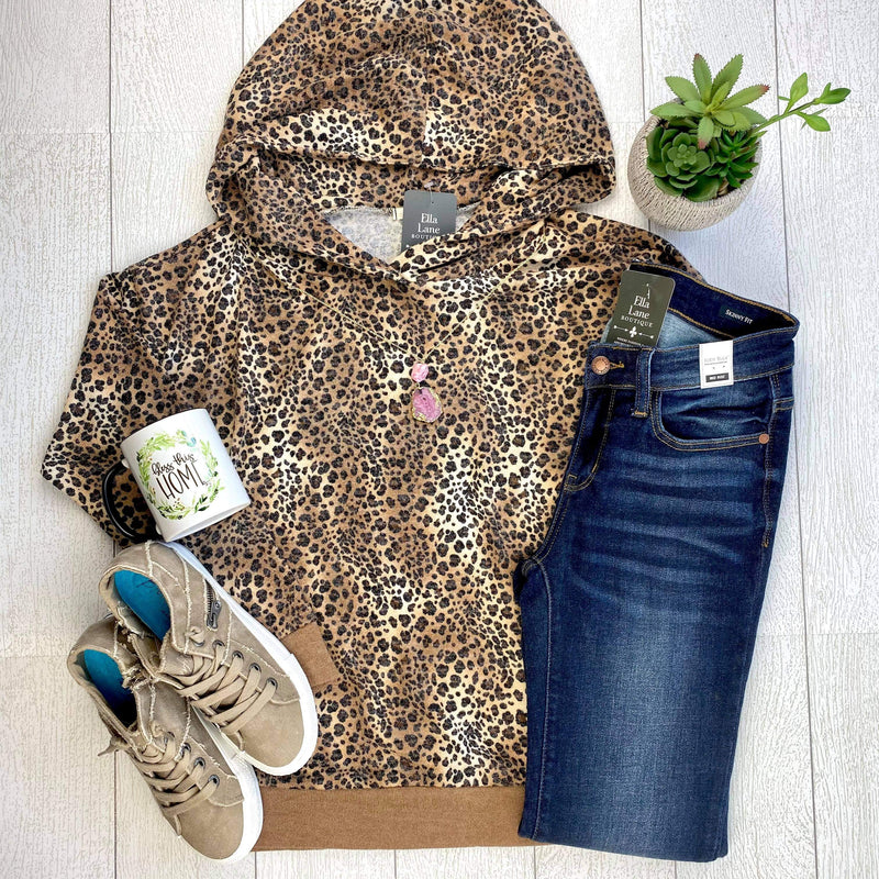 Leopard Hoodie Top FINAL SALE