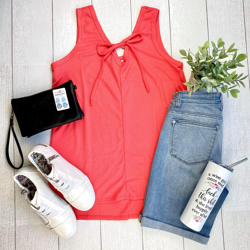 Grace Sleeveless Top - Coral FINAL SALE